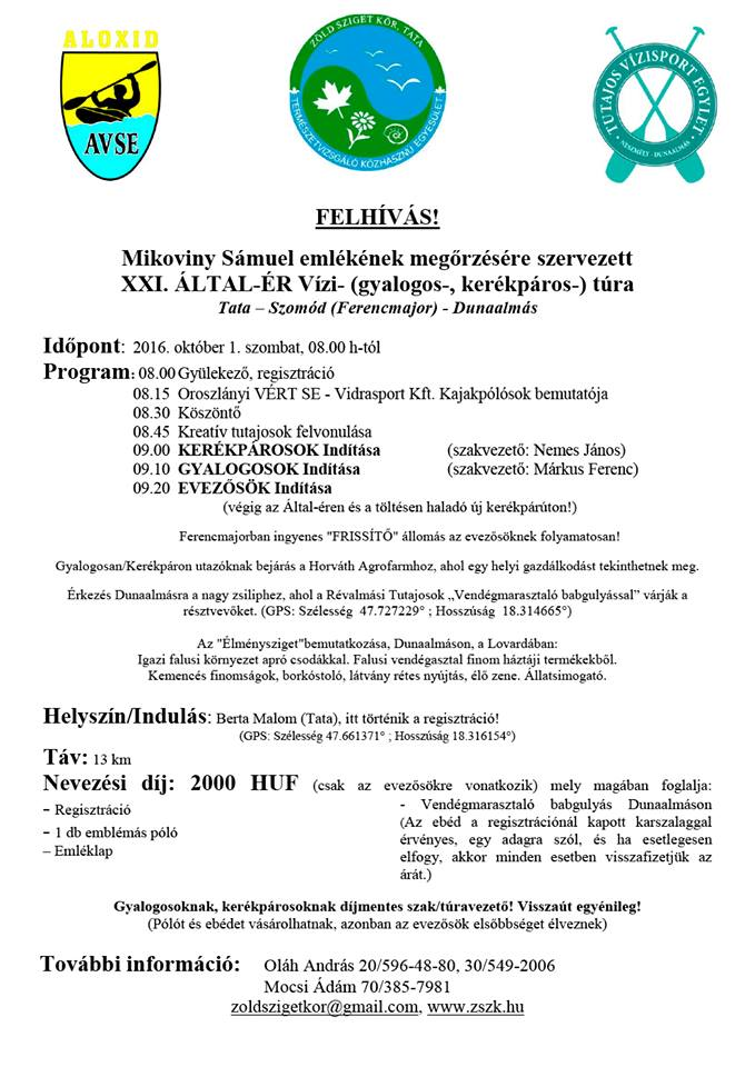 Mikoviny Sámuel emléktúra - Által-ér